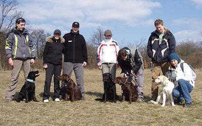 Výcvikové setkání štěňátek sobota 21.3.2009